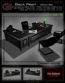 C.H. - Black Pearl - Office desk & Chairs
