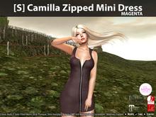 [S] Camilla Zipped Mini Dress Magenta