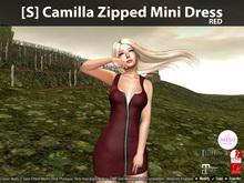 [S] Camilla Zipped Mini Dress Red