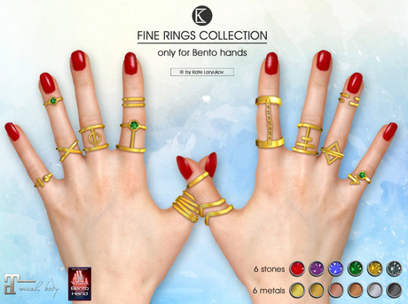[*K*] Fine Rings Collection for bento hands