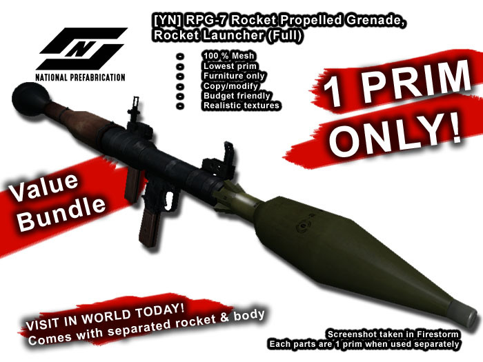 1:6th Scale Green RPG Rocket Propelled Grenade Pen