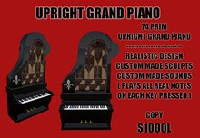 Antique Upright Grand (BLACK) *RRR*