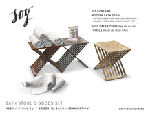 Soy. Bath Stool & Goods Set [addme]