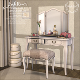 {what next) Isabelle Vanity Table, Stool & Decor