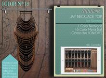 "Addams ""Jay"" Womens Necklace Top -Maitreya, Slink, Belleza- Mesh #15"