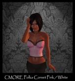 CMORE - Polka Corset Pink/White