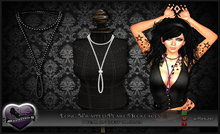 ::DavationZ:: Long Wrapped Pearl Necklace (Black) - SPECIAL PRICE 75L$