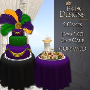 Admirable Second Life Marketplace Pl Cake Mardi Gras 2 Cakes Funny Birthday Cards Online Alyptdamsfinfo