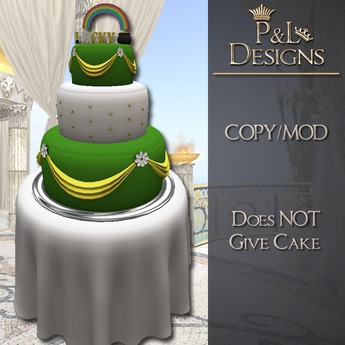 Swell Second Life Marketplace Pl St Patricks Day Cake And Round Funny Birthday Cards Online Necthendildamsfinfo