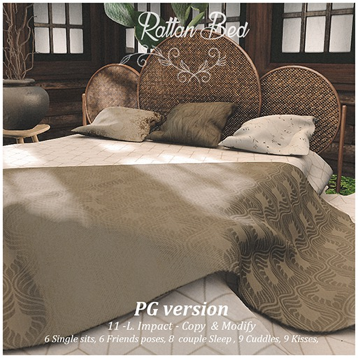 OneDecor_Rattan Bed - PG