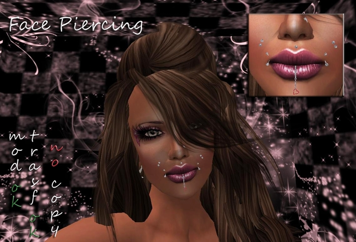 Face Piercing w heart box