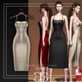 [Noche] Sandra Silk Dress Gold