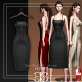 [Noche] Sandra Silk Dress Black