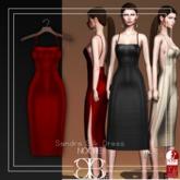 [Noche] Sandra Silk Dress Red