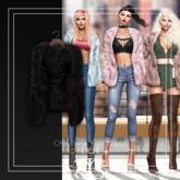 NOCHE. Christine Fur Coat Black