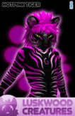 Luskwood Hot Pink Tiger Furry Avatar - Male