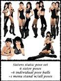 *MV* Sister pose set - all 6 static sister poses