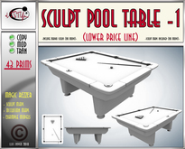 Sculpt  Pool Table by **aVISTYLe** (Low Price Line) - for FULL PERM !!
