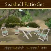Seashell Patio Set