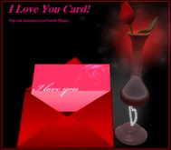 """*Romantic Pop Out Musical Greeting Card!  Say """"I love you"""" today!"""
