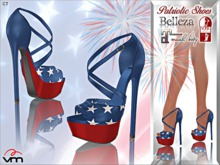 Patriotic High Heel Shoes ::VoodooMonkey::