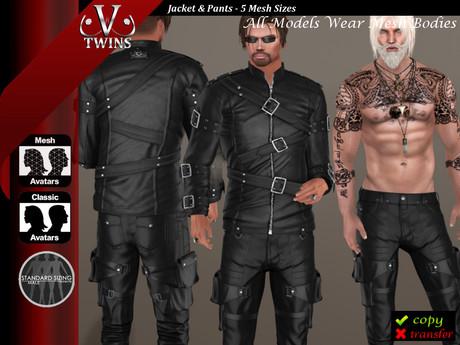 Second Life Marketplace V Twins Biker Clothes Secret Admirer