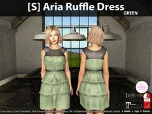 [S] Aria Ruffle Dress Green