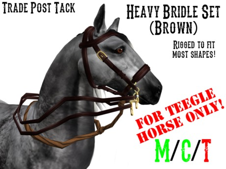 *TPT* Heavy Bridle Set Brown for Teegle Horse (Halter Included!)