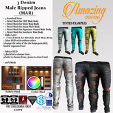 AmAzINg CrEaTiOnS 3 Denim Male Ripped Jeans (MAR) Tintable