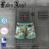 F.A.D -Men's Beach Shorts FLAMINGO  -  SIG GIANNI / SLINK/ TMP