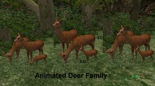 Animated Deer Family