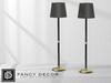 Fancy Decor: Floor Lamp (black & gold)