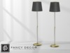 Fancy Decor: Floor Lamp (glass & gold)