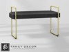 Fancy Decor: Leather Bench (gold)