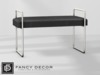 Fancy Decor: Leather Bench (silver)