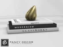 Fancy Decor: Modern Books (gold)