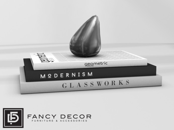 Fancy Decor: Modern Books (silver)