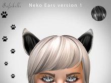 ANIMATED NEKO CAT EARS - Bento  - BLACK 01 - 6 Random Animations