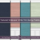 {L} Textured Wallpaper-White Trim-Spring Palette