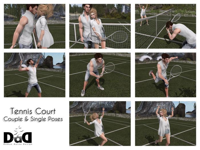"""Couple & Single Poses Clay Court"" c/m 100% original poses"