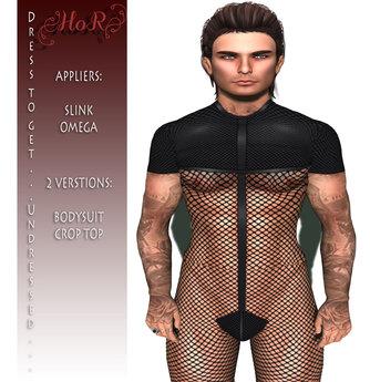 [House of Ruby] Net Unisex Bodysuit 2 in 1 - Fishnet