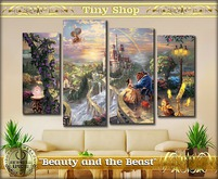 "Picture modular children's ""Beauty and the Beast"" 100%mesh (ful"
