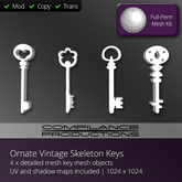 Compilance - Vintage Keys Mesh Pack - Ornate