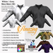 AmAzInNg CrEaTiOnS White \ Grey Men Shirt (M) With Color HUD