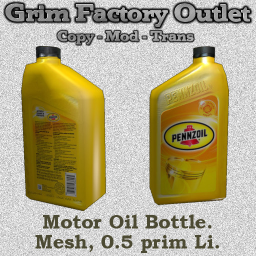 Motor Oil bottle (Boxed)