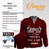 AmAzInNg CrEaTiOnS Male valentine's day Shirt (M)
