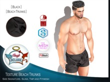 Angel DELUXE - Black Beach Trunks - FITMESH + TMP + SLINK + SIGNATURE