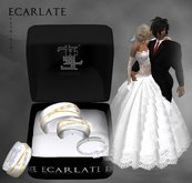 Ecarlate - Alliance Women/Men + Engagement Ring- Gold White - Fevrinome