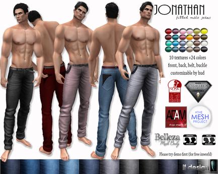 jonathan male jeans lf design
