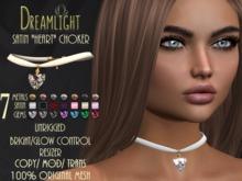 "[Dreamlight] Satin ""Heart"" Choker"